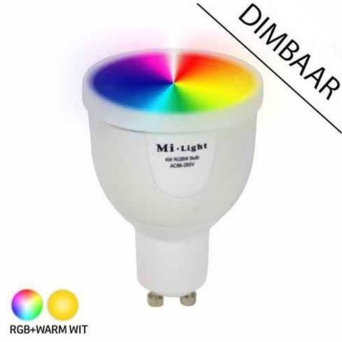 GU10 RGBW LED lamp Milight 5 Watt