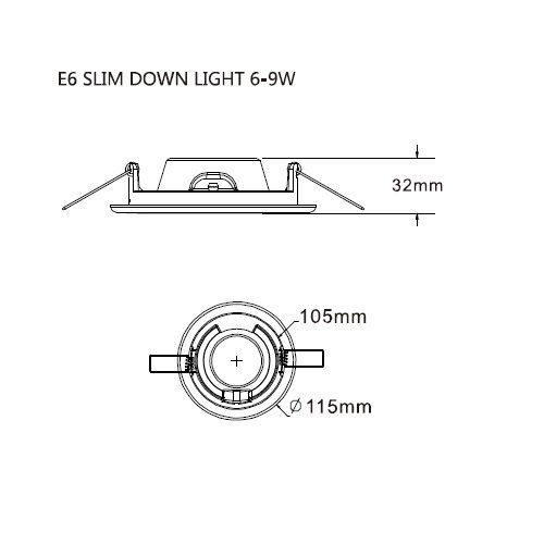 LED inbouwarmatuur aluminium inclusief lamp 6W 4000K