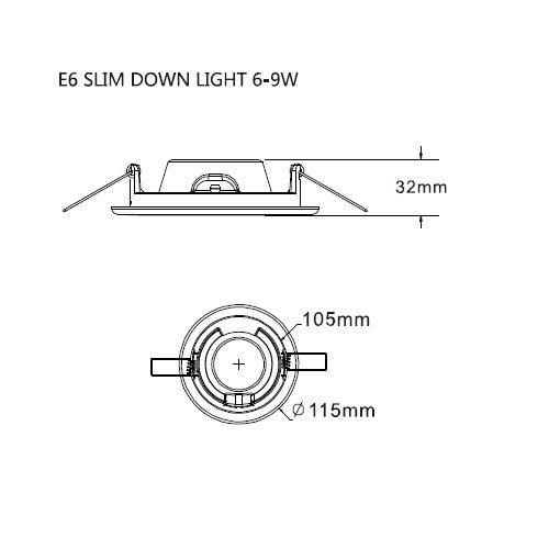 LED inbouwarmatuur aluminium inclusief lamp 6W 3000K